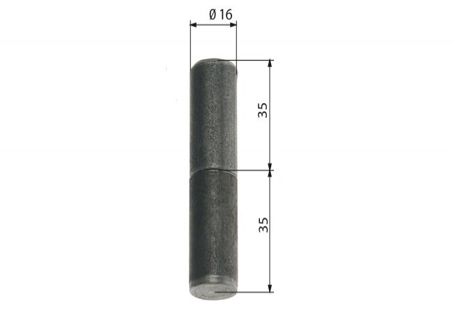 Zawiasa budowlana toczona 16/ 70 mm