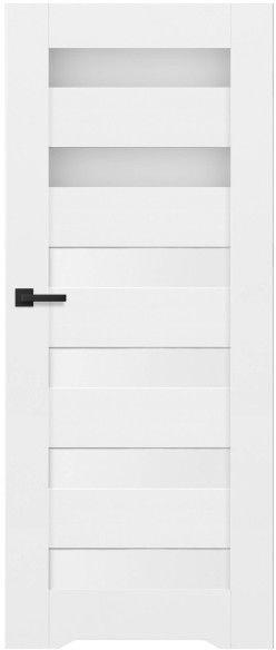 Drzwi bezprzylgowe z podcięciem Trame 70 prawe białe