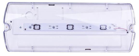 Oprawa awaryjna LED 3,2W 1h IP65 IIkl. jednozadaniowa HELIOS W autotest do niskich pomieszczeń HWM/3,2W/B/1/SE/AT/TR