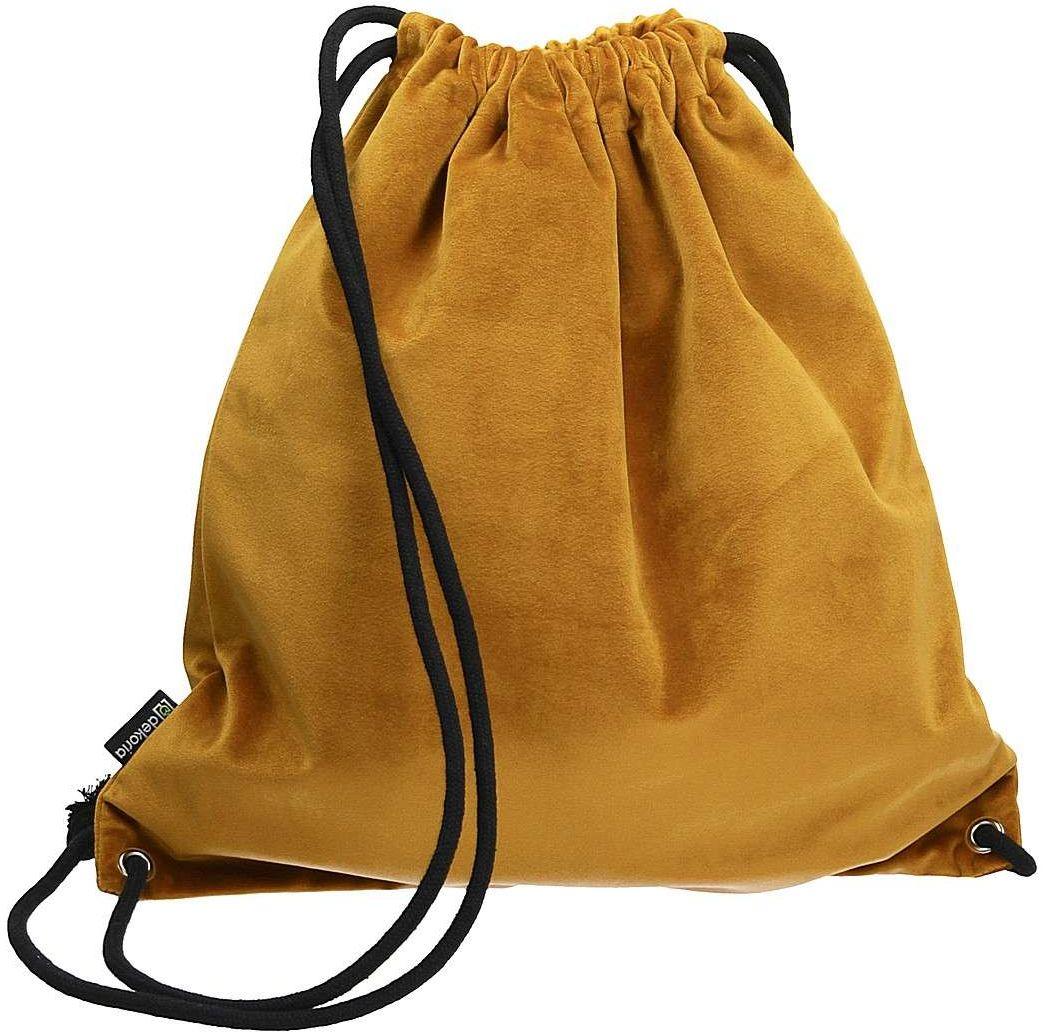 Plecak- worek Velvet, miodowy, 40 x 43 cm, Velvet