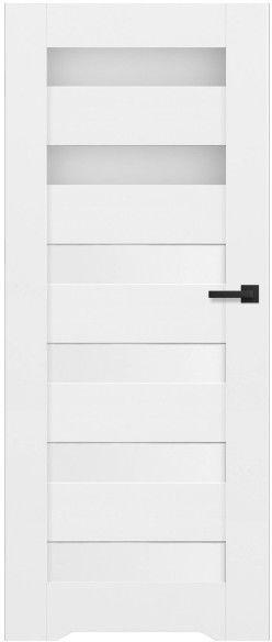 Drzwi bezprzylgowe z podcięciem Trame 80 lewe białe