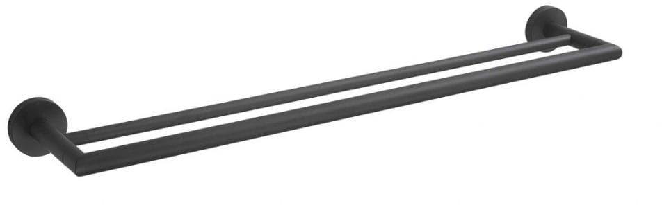 Stella Classic wieszak prosty podwójny 60 cm 07.120-B czarny mat