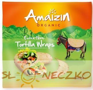 Tortilla Wraps z otrębami BIO (źródło błonnika pokarmowego) 240g Amaizin