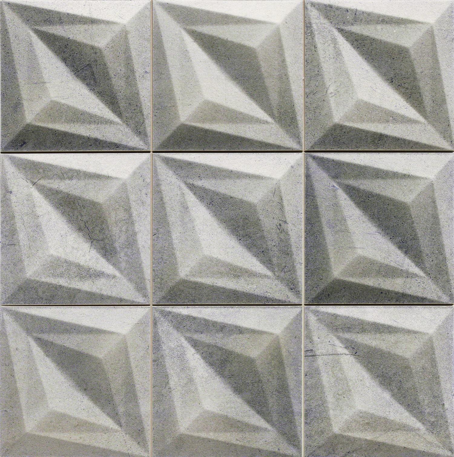 Habitat Delta Concrete 33x33 płytka ścienna heksagonalna