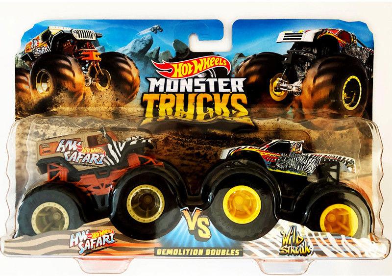 Hot Wheels - Monster Truck 2pak HW Safarii vs Wild Streak GJF64