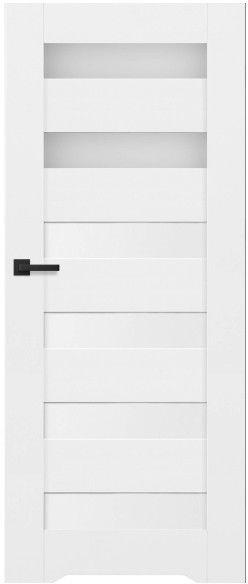 Drzwi bezprzylgowe z podcięciem Trame 80 prawe białe