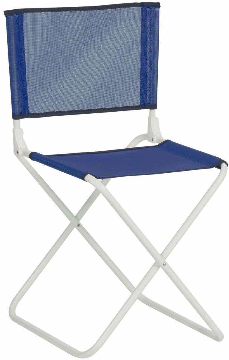 Safari-635B16 stołek z nylonu z oparciem niebieski, kolorowy (87516)