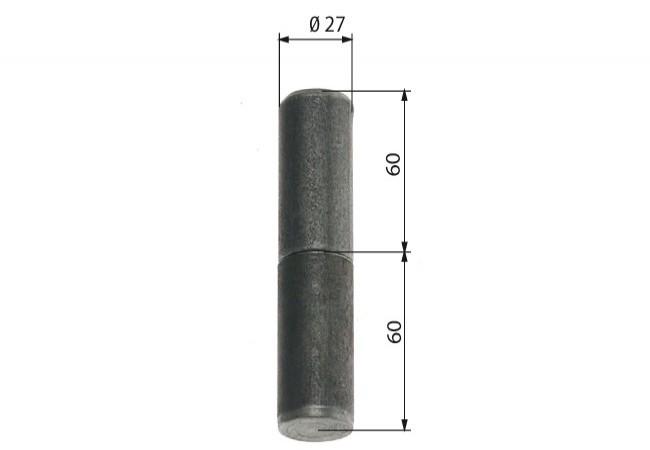 Zawiasa budowlana toczona 27/100 mm z kulką