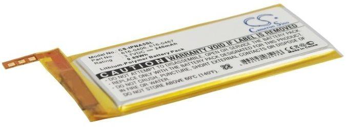Apple iPod Nano 5th / 616-0406 240mAh 0.89Wh Li-Polymer 3.7V (Cameron Sino)