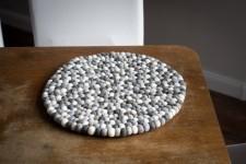 Podkładka filcowa na stół 30 cm Delikatny Beż
