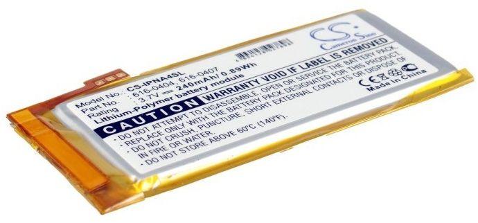 Apple iPod Nano 4th 16GB / 616-0405 240mAh 0.89Wh Li-Polymer 3.7V (Cameron Sino)