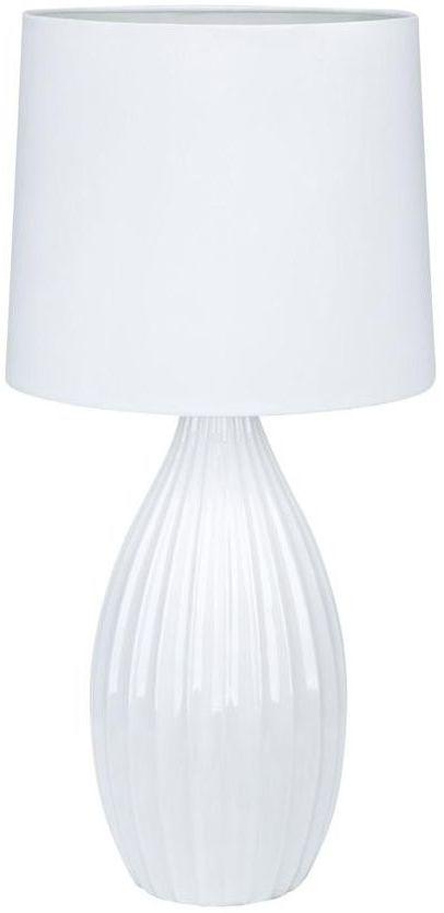 Lampa stołowa STEPHANIE biała E27 MARKSLOJD