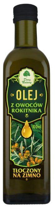 Olej z Owoców Rokitnika (rokitnikowy) 100ml Dary Natury