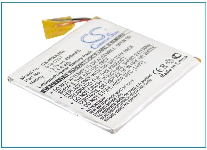 Apple iPod Nano 3rd 4GB / 616-0337 450mAh 1.67Wh Li-Polymer 3.7V (Cameron Sino)