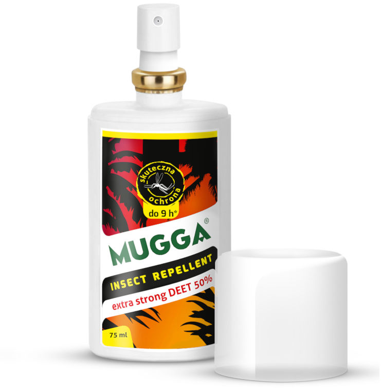 Mugga Strong Spray 50% DEET. Środek na komary tropikalne.