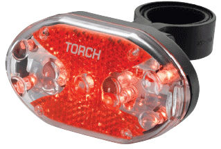 Lampka tylna TORCH TAIL BRIGHT 9X czarna TOR-54016,7290001540169