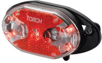 Lampka tylna TORCH TAIL BRIGHT 5X CARRIER FIT czarna TOR-54020,7290001540206