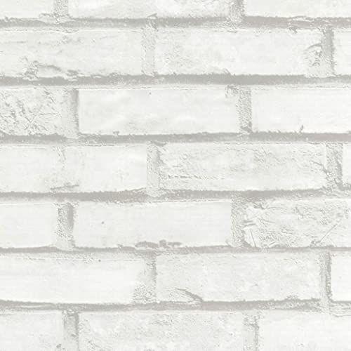 Venilia Folia samoprzylepna mur, folia imitująca kamienie, folia dekoracyjna, folia do mebli, tapeta, folia samoprzylepna, PCW, bez ftalanów, biała, 90 cm x 2,1 m, grubość 0,095 mm, 53499