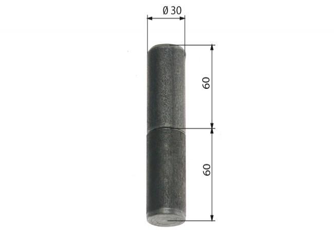 Zawiasa budowlana toczona 30/110 mm z kulką