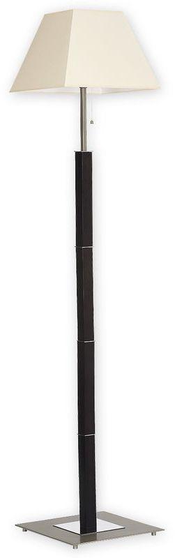 Inari lampa podłogowa 1 pł. / satyna + chrom + drewno (wenge)