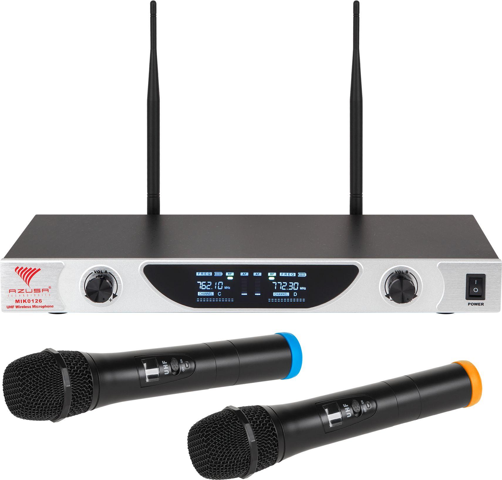 Mikrofon bezprzewodowy UHF Azusa dwukanałowy SE-2022