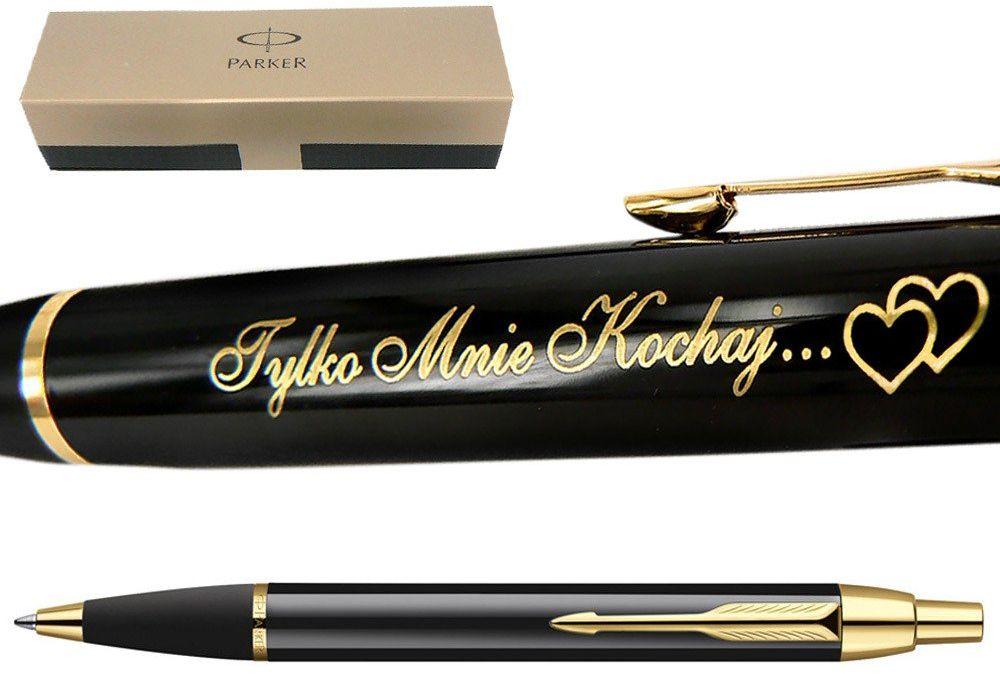 Oryginalny Długopis Parker IM Czarny GT z Gawerunkiem