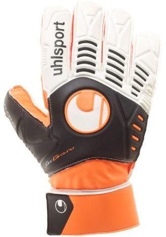 uhlsport Rękawice bramkarskie Ergonomic Soft Training, Fluo pomarańczowe/czarne/białe, 6,5