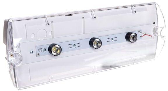 Oprawa HELIOS W 12,0m IP65 PLED 3x1W 1h jednozadaniowa autotest HWD/3x1W/B/1/SE/AT/TR