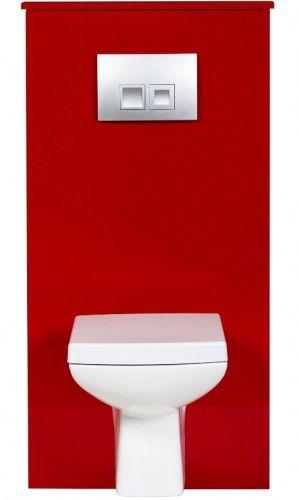 Zabudowa stelaża WC czerwona, Gante FOKUS