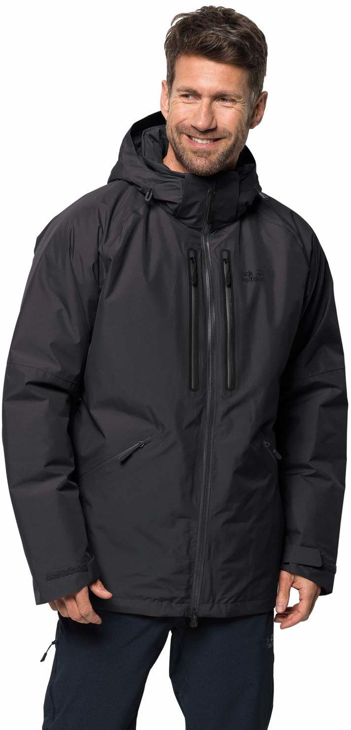 Jack Wolfskin Męska kurtka Glen Canyon Parka M czarny czarny XL
