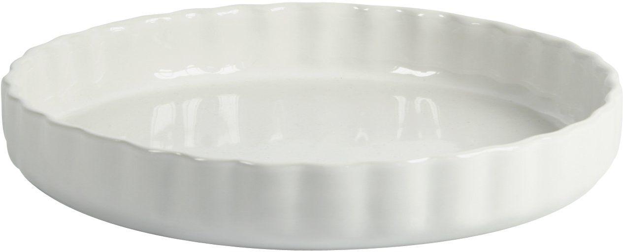 Crealys 512734 forma do ciasta owocowego, ceramiczna, 28 cm, biała