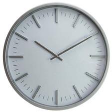 Zegar ścienny srebrny 3D index