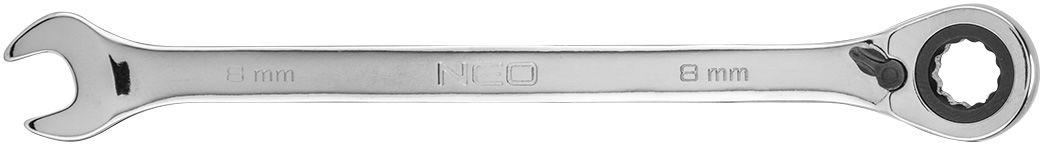 Klucz płasko-oczkowy z grzechotką i przełącznikiem 8 mm