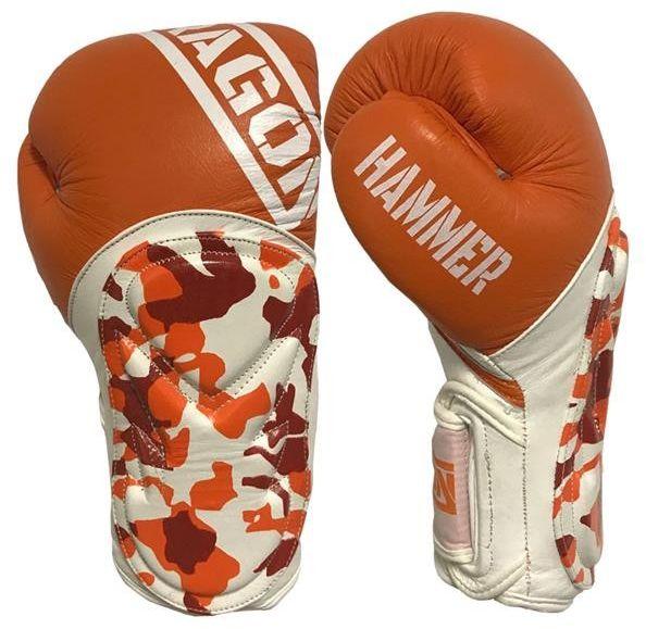 Dragon Sports rękawice bokserskie HAMMER pomarańczowe