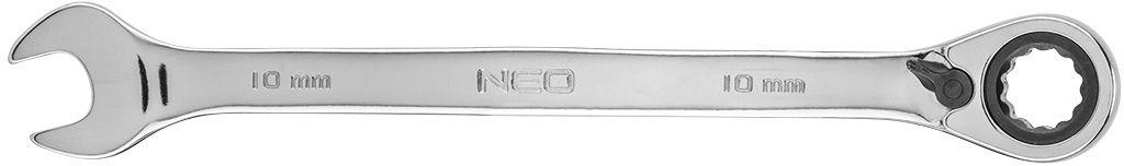Klucz płasko-oczkowy z grzechotką i przełącznikiem 10 mm