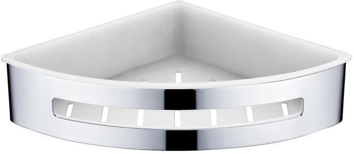 Stella koszyk narożny, wkład z tworzywa biały 16.068 chrom