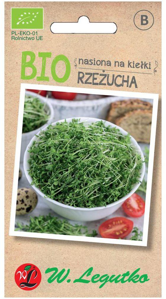 Rzeżucha BIO nasiona na kiełki ekologiczne 15 g W. LEGUTKO