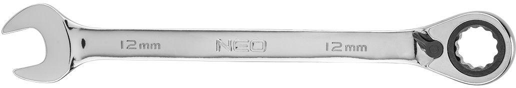 Klucz płasko-oczkowy z grzechotką i przełącznikiem 12 mm