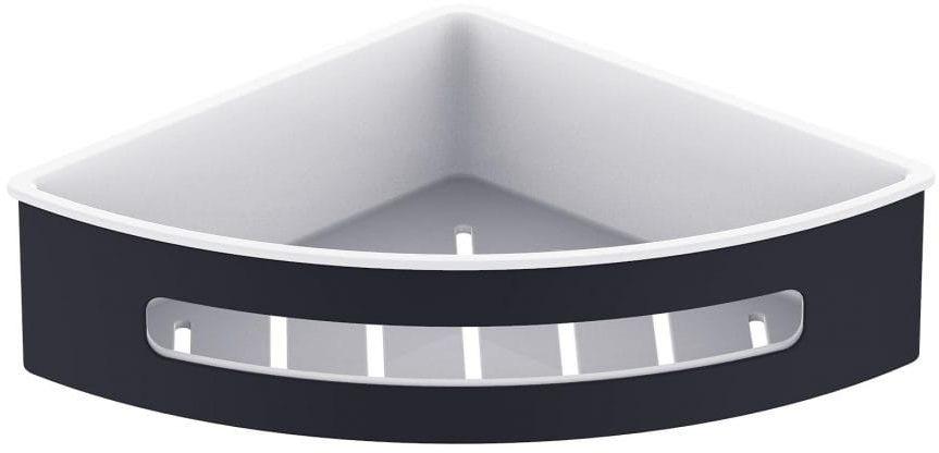 Stella koszyk narożny, wkład z tworzywa biały 16.068-B czarny mat