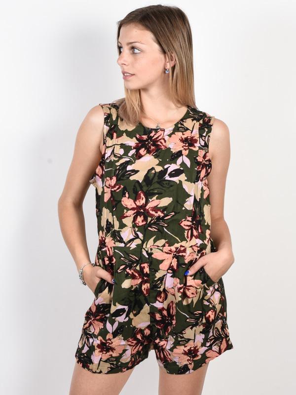 RVCA TUCKED IN forest krótkie sukienki - XS