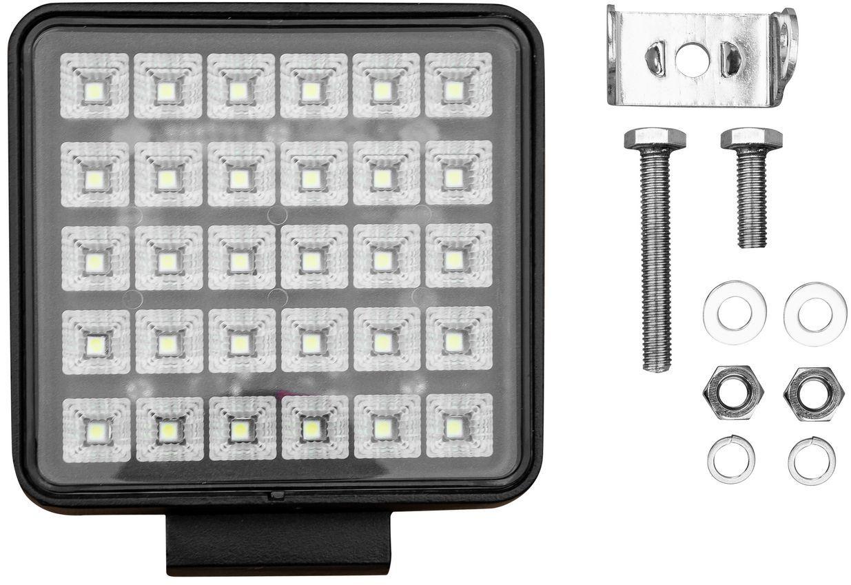 Lampa robocza 30x LED kwadrat z włącznikiem L0156