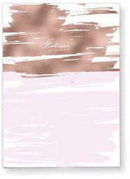 Grafik-Werkstatt 63568 Rosé notatnik mały 52 arkusze w linie ze zszywanymi pikowanymi miedziany brzeg 10,5 x 14,8 cm