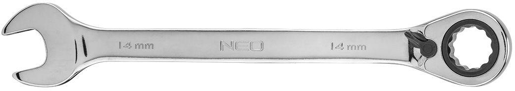 Klucz płasko-oczkowy z grzechotką i przełącznikiem 14 mm