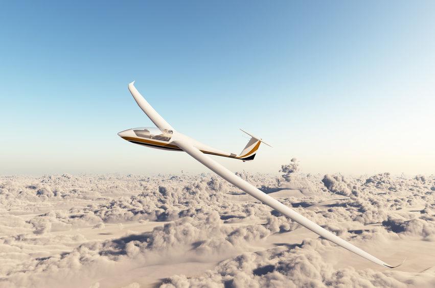 Lot szybowcem - Gliwice - start za wyciągarką