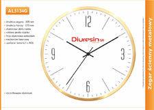 Zegar reklamowy aluminiowy złota ramka /300mm