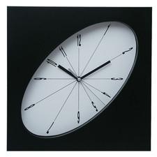 Zegar ścienny elipsa czarny #1