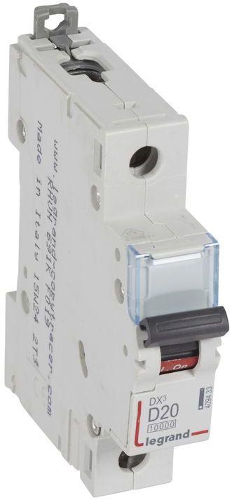 Wyłącznik nadprądowy 1P D 20A 10kA AC S311 DX3 409433