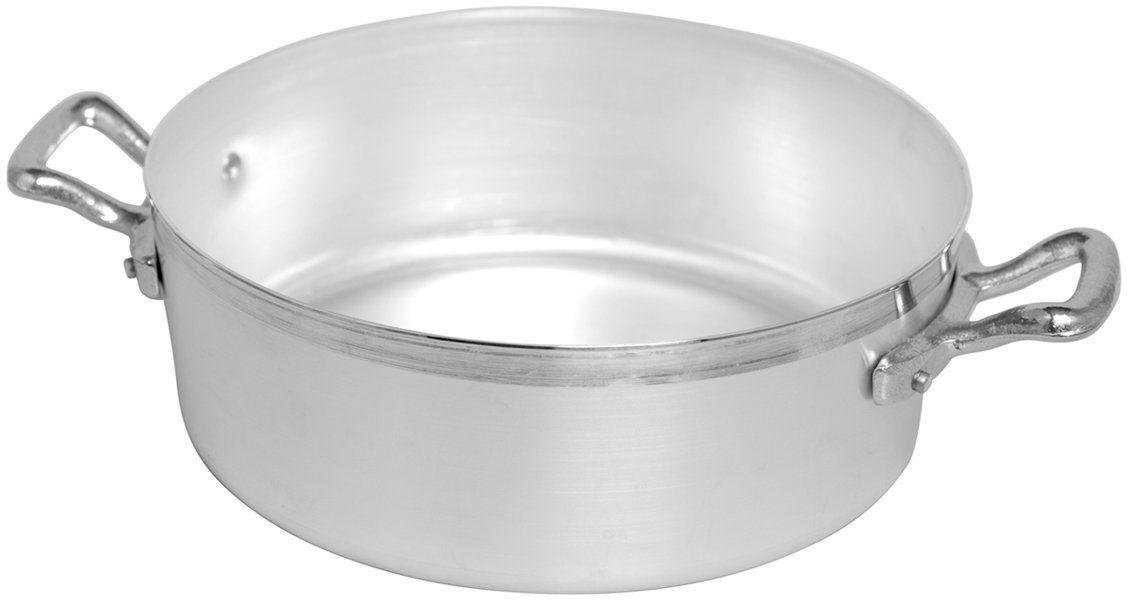 Pentole Agnelli Rondel niski, aluminium BLTF, z 2 uchwytami ze stali nierdzewnej, srebrny 20 cm srebrny/czarny