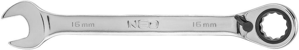 Klucz płasko-oczkowy z grzechotką i przełącznikiem 16 mm