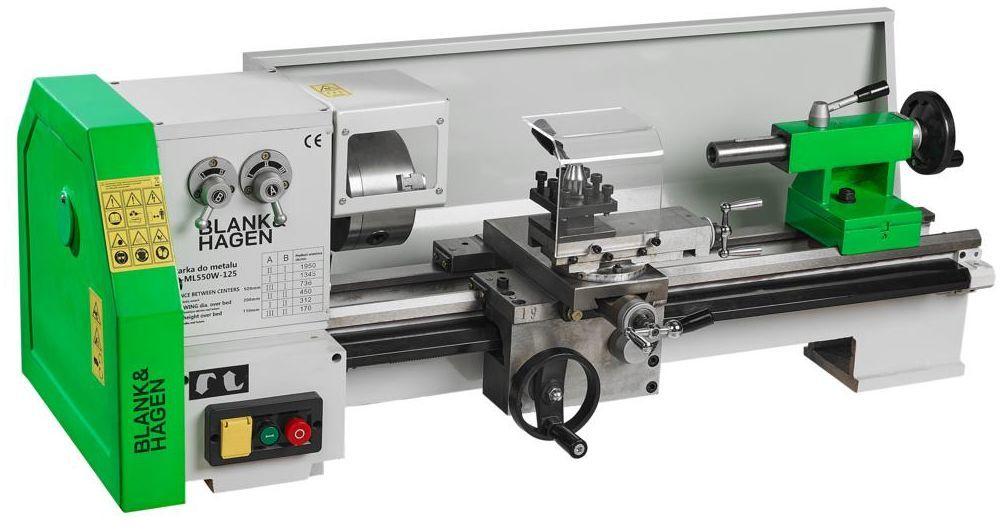 Tokarka do metalu TTD-ML550W125 550 W BLANK&HAGEN